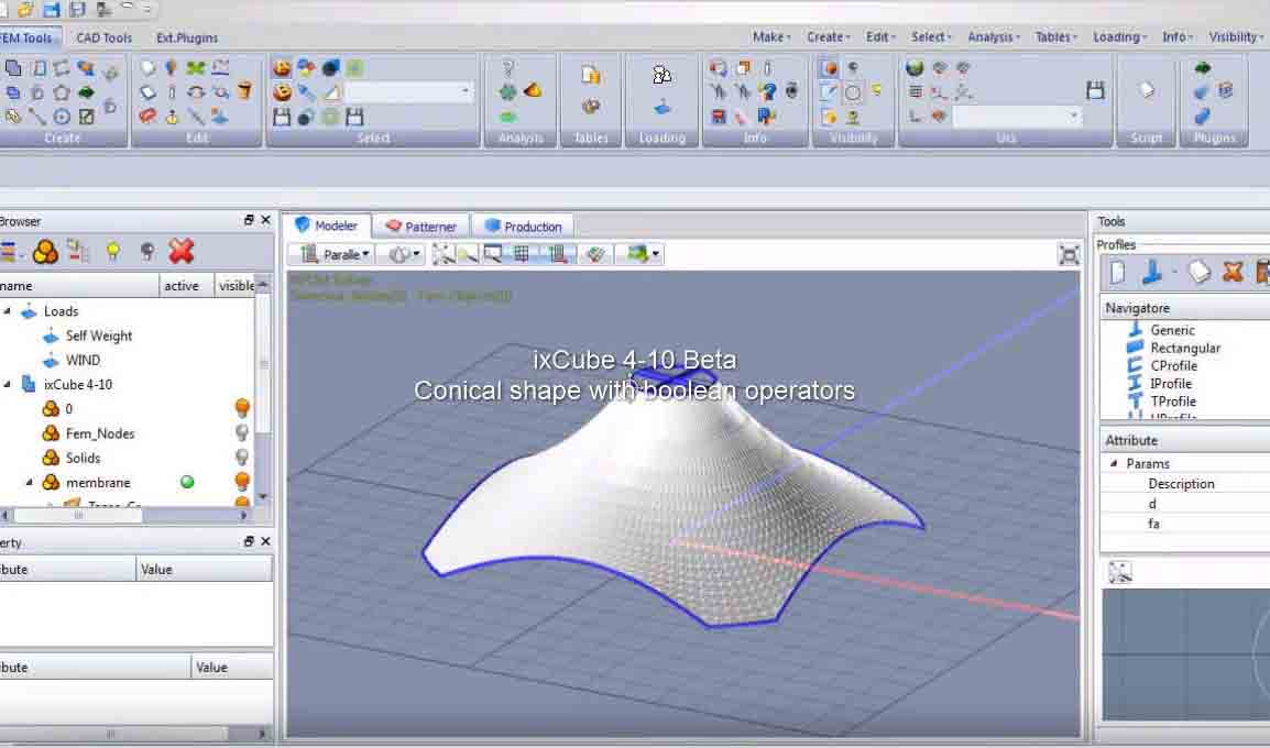 10-Modeling a conical shape with boolean operators and NFDM solver