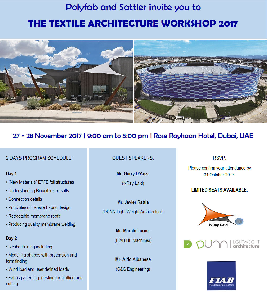 workshop dubai 2017